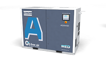 Atlas Copco AQ Series Water-injected Oil-free Screw Air Compressors