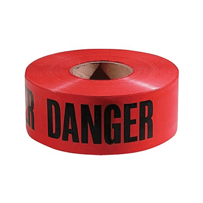 TAPE BARRICADE R 3IN 1000FT ROLL 2MM