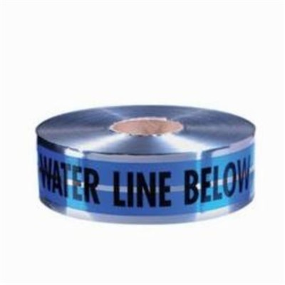 TAPE DETECTABLE BK/BL/SIL 6IN 1000FT