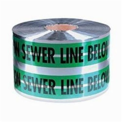 TAPE DETECTABLE BK/GRN/SIL 6IN 1000FT